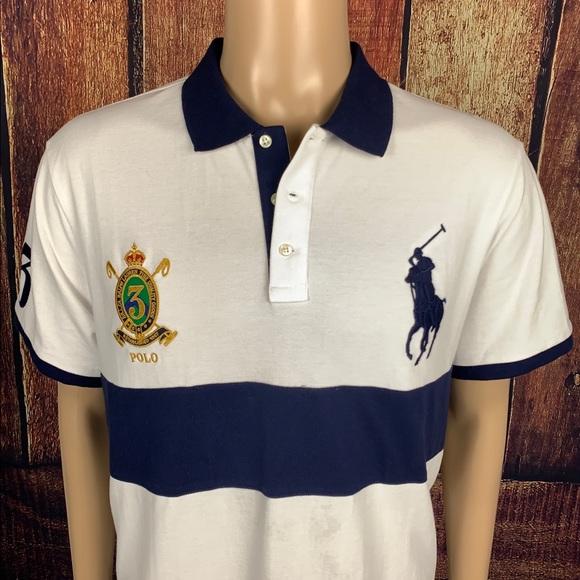 Polo by Ralph Lauren VTG Logo T Shirt XL Big Pony Crest 1967 Crown Mens